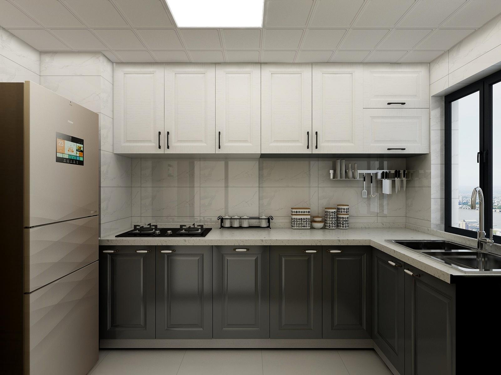 100㎡现代简约厨房装修效果图