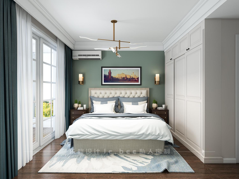 100平美式风格卧室装修效果图