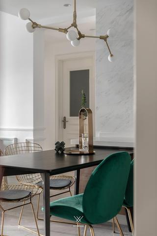89㎡休闲法式风格装修餐厅吊灯设计图
