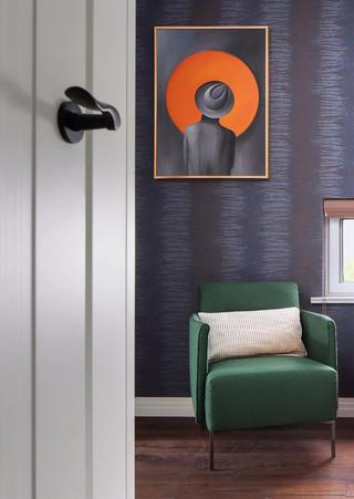 现代混搭风格别墅装修绿色沙发椅设计