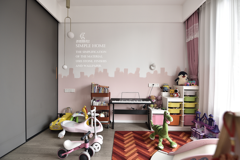 现代风格三居室儿童房装修效果图