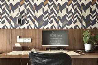 现代风格三居室装修书桌设计图