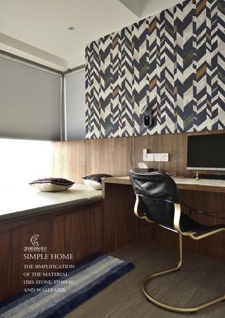 现代风格三居室榻榻米书房装修效果图