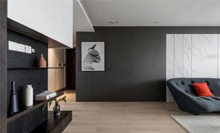 90平现代简约二居装修墙面装饰画设计