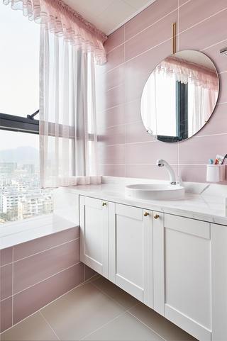 现代卫生间洗手台装修效果图