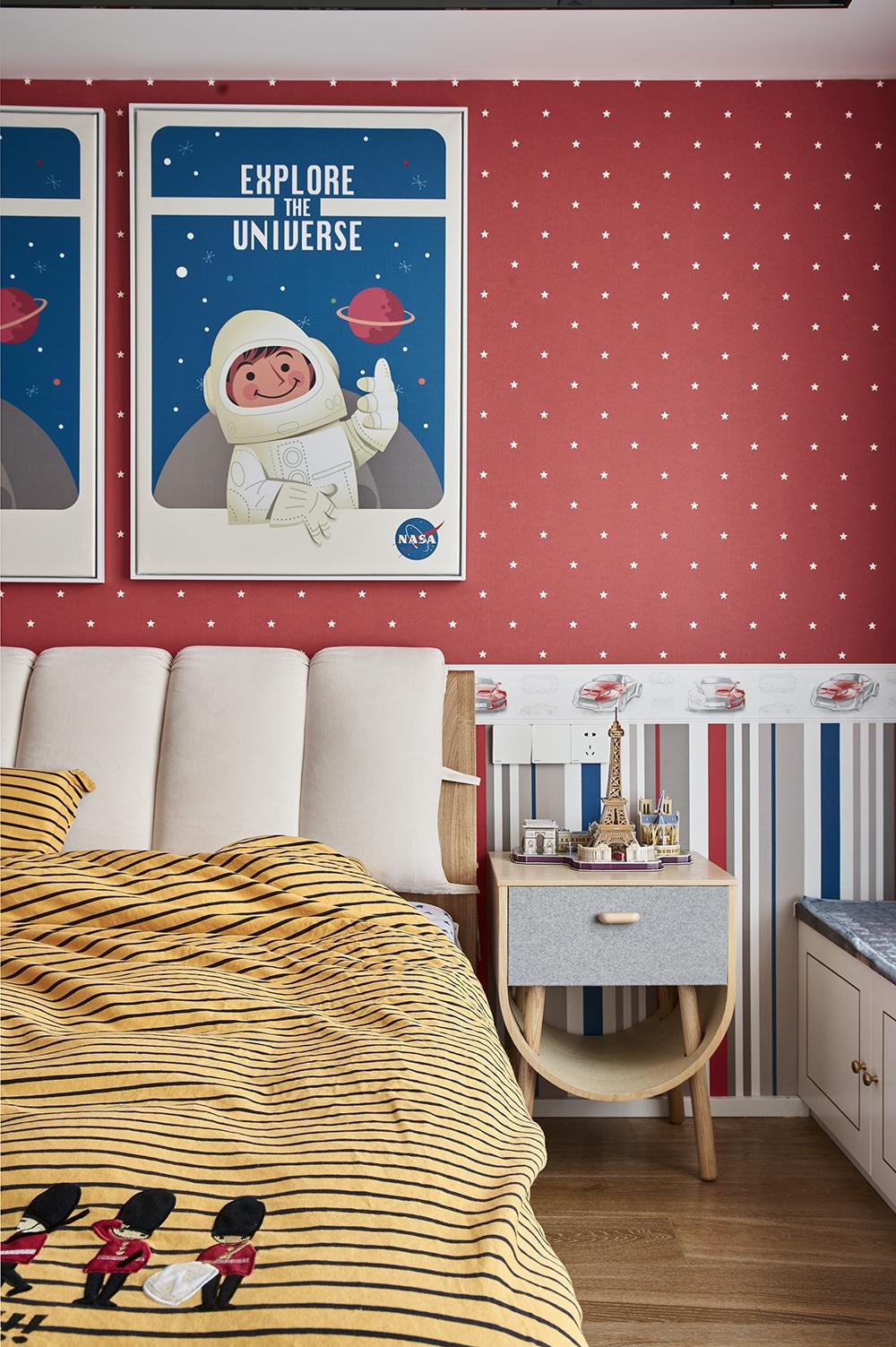 现代风儿童房装修效果图