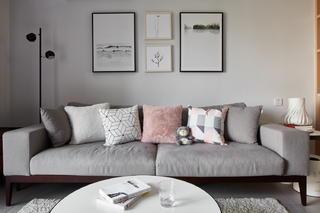 北歐風格二居室裝修沙發設計圖