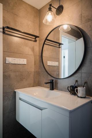 100㎡北欧风卫生间洗手台装修效果图