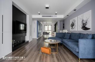 102㎡现代简约二居客厅装修效果图