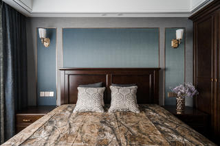 135㎡美式风格床头背景墙装修效果图