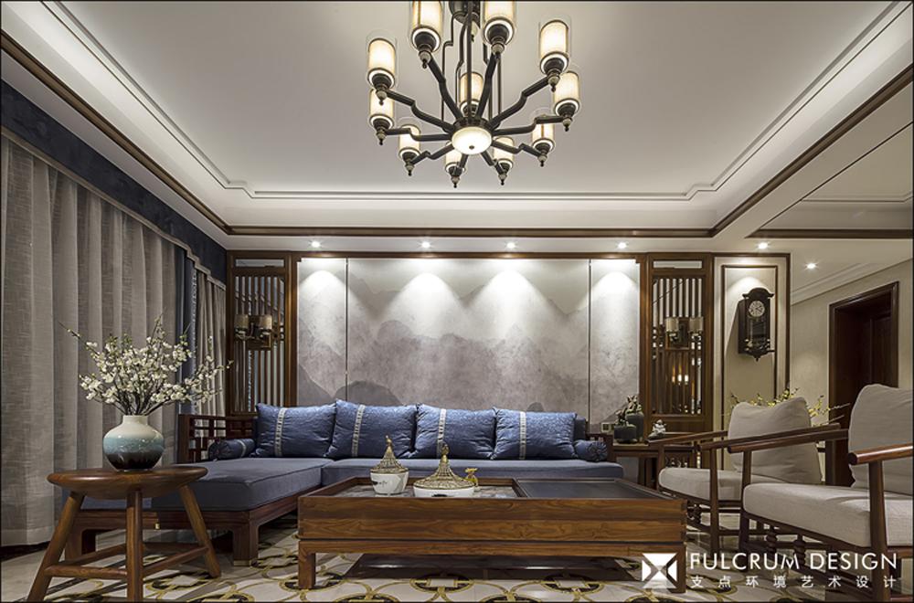 大户型中式风格客厅装修效果图