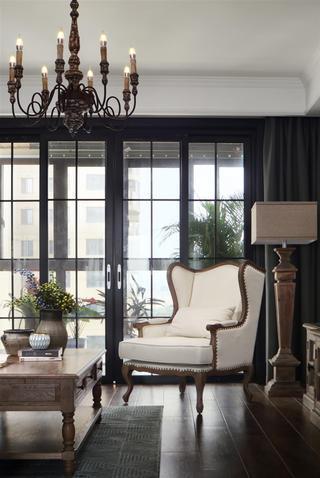 复古美式风格四居装修沙发椅设计图
