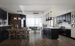 复古美式风格四居厨餐厅装修效果图