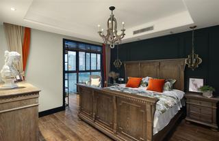 复古美式风格四居卧室装修效果图