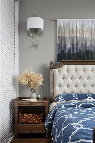 复古美式风格四居装修床头柜设计图