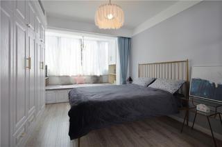 50㎡一居室北欧风卧室装修效果图