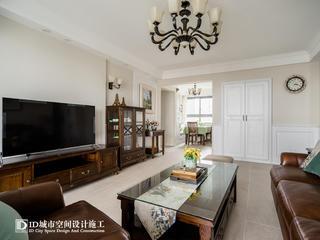 三居室美式风格客厅装修效果图