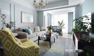清新美式风三居室装修效果图