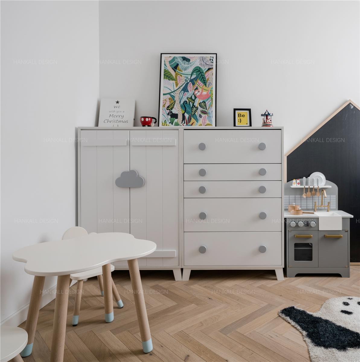 90平米二居室装修斗柜设计图