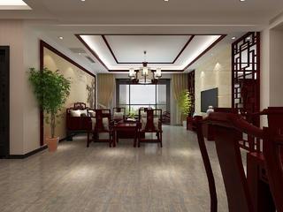 中式风格三居室客厅装修效果图