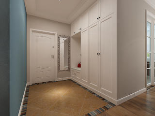 三居室美式风格玄关装修效果图