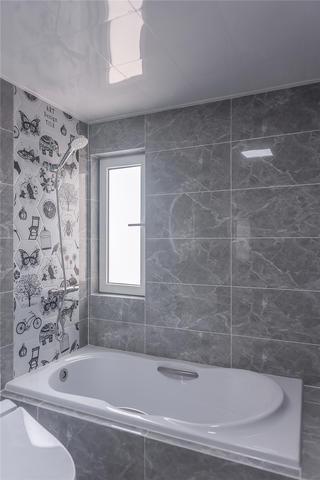 112㎡北欧现代风装修卫生间浴缸设计