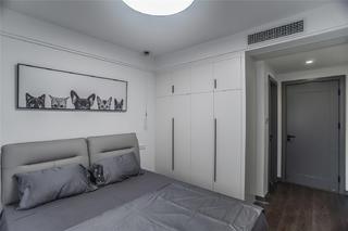 112㎡北欧现代风卧室装修效果图