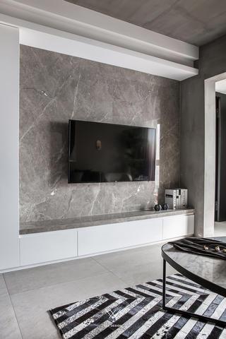 混搭风格三居电视背景墙装修效果图