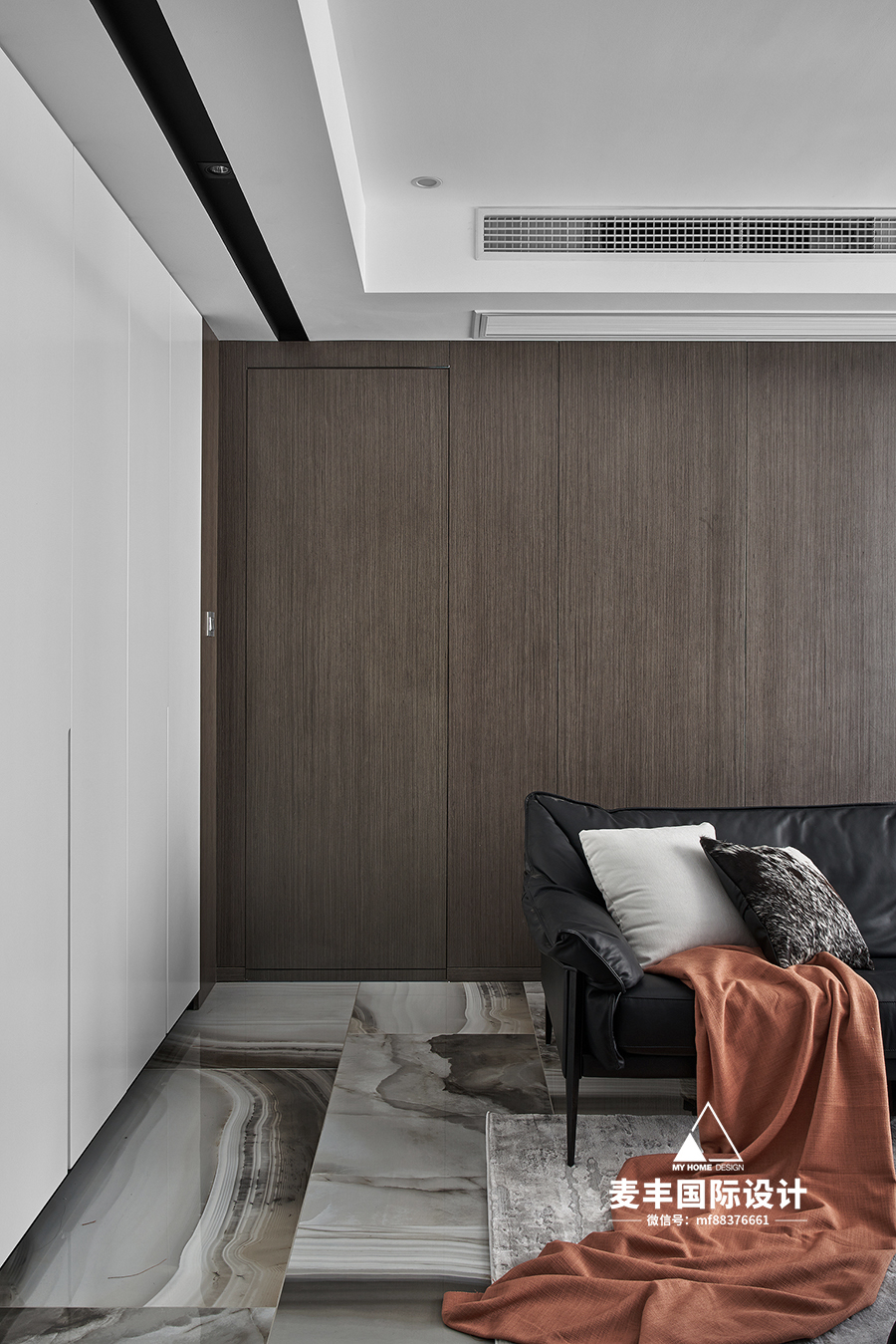 125m²现代风格隐形门装修效果图
