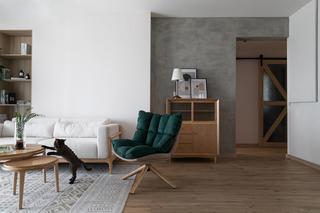日式风格三居室装修休闲椅设计图