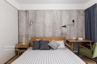 107平北欧风格卧室背景墙装修效果图