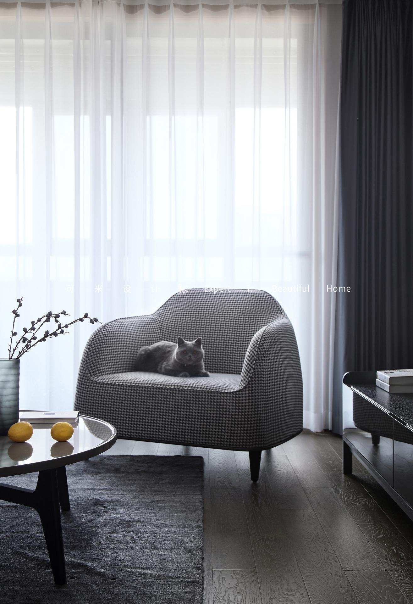 85平二居室装修单人沙发设计图