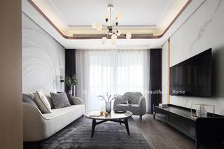 85平二居室客厅装修效果图