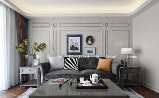 美式混搭三居室装修效果图