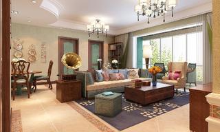 美式风格四居室装修效果图