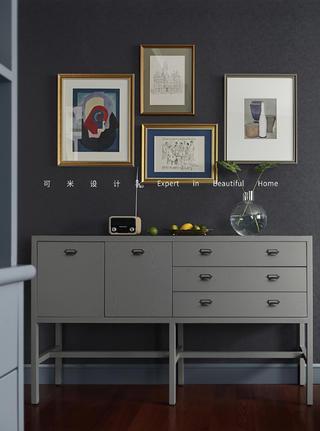 110平米混搭风格装修餐边柜设计图