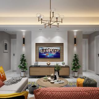 北欧现代两居室装修效果图