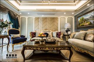 大户型奢华法式风格客厅装修效果图