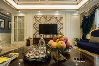 大户型奢华法式风格电视背景墙装修效果图