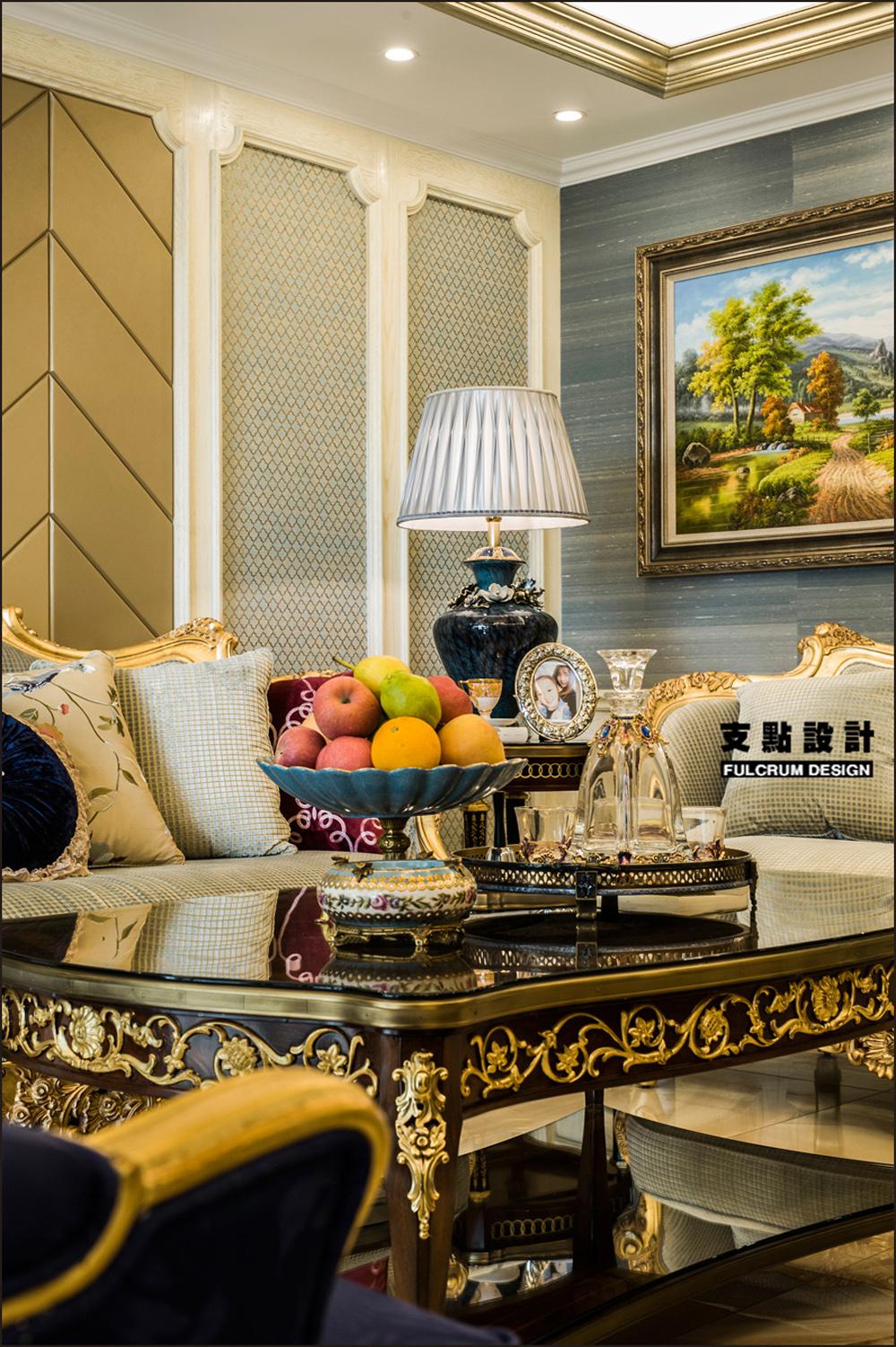 大户型奢华法式风格装修茶几设计图