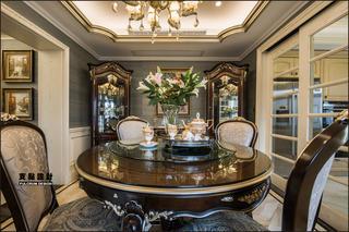 大户型奢华法式风格装修餐桌椅设计图