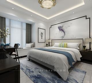 二居室中式风格卧室装修效果图