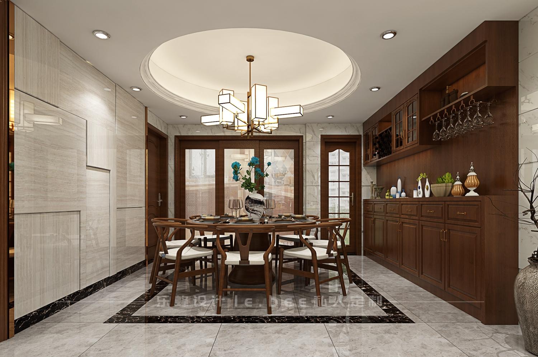 二居室中式风格餐厅装修效果图