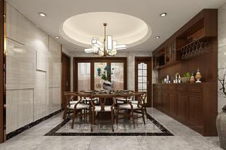 二居室中式風格餐廳裝修效果圖