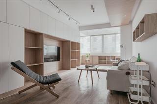 120㎡日式风格客厅装修效果图
