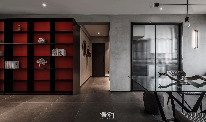 138平米三居室装修书架设计图
