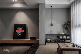 138平米三居地台茶室装修效果图