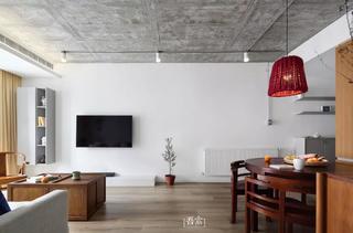 二居室混搭风格电视背景墙装修效果图
