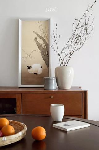 二居室混搭风格装修餐边柜装饰摆件图片