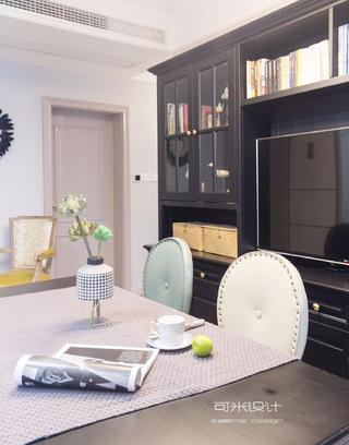 80㎡美式复古风装修电视柜设计图